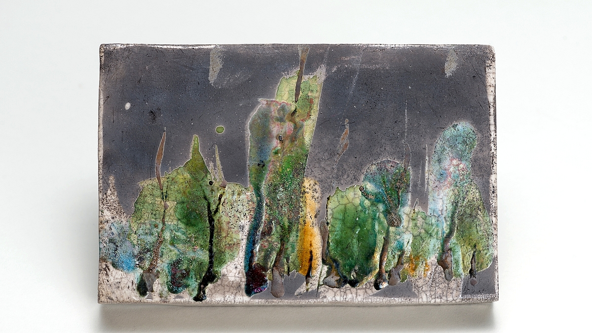 AUTUMN 1 - raku wall art, NAOMIPELI ceramics