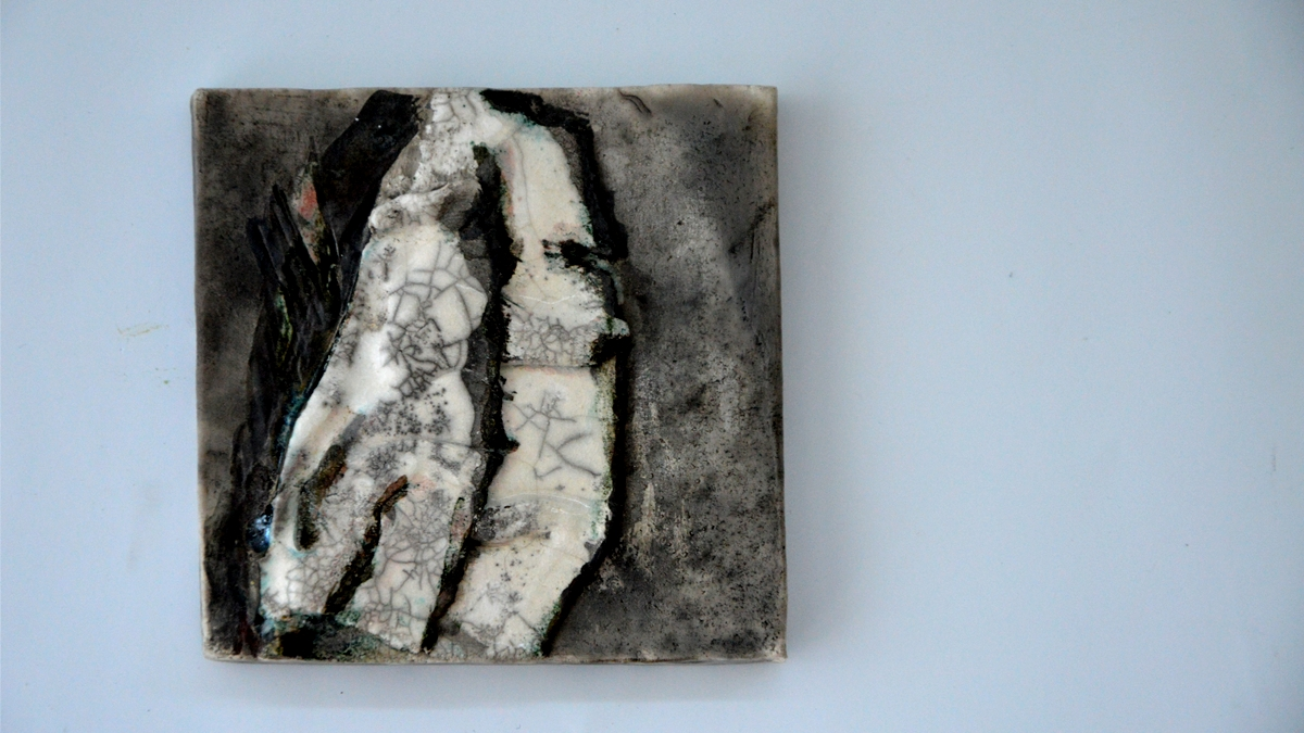 BLOOMING raku wall art, NAOMIPELI ceramics