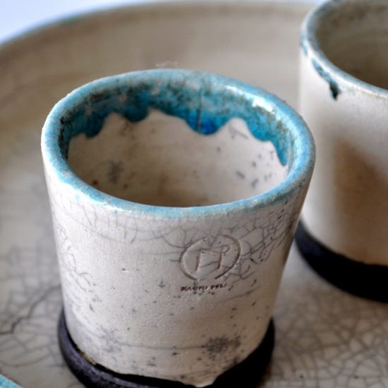CEREMONY raku tea set, NAOMIPELI ceramics