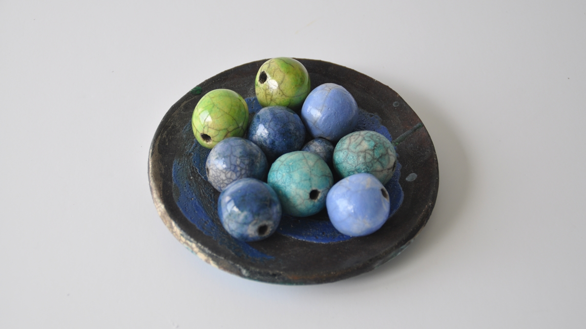 RAKU BEADS for ceramic jewelries, NAOMIPELI ceramics