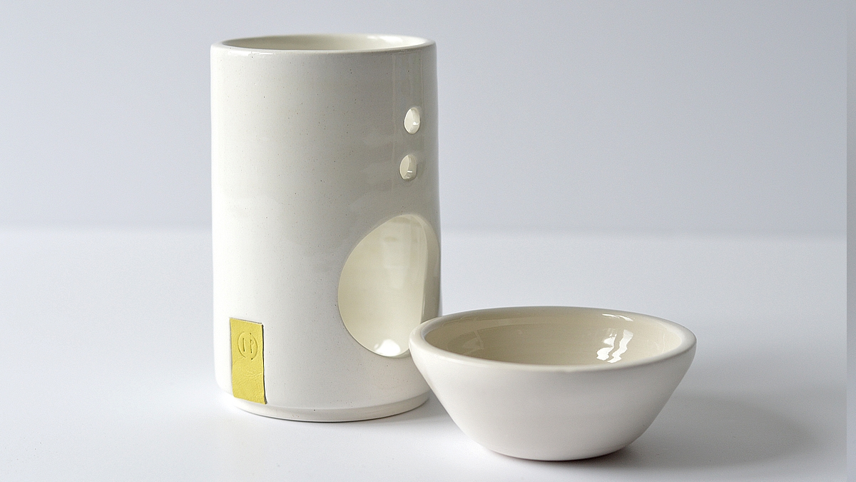 AROMA1 essential oil burner, NAOMIPELI ceramics